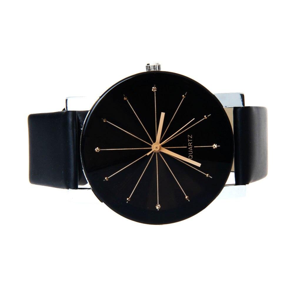 1 пара, часы для влюбленных, кварцевые часы с циферблатом, часы из искусственной кожи, наручные часы Relojes, часы для женщин и мужчин, модные роскошные часы Relogio Feminino Saat