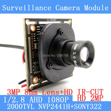 2 0MP 1920 1080 AHD 1080P Surveillance Camera Module 1 2 8 NVP2441 SONY IMX322 PCB