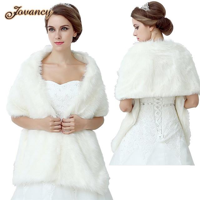 e655ffd8a € 31.54 |Modest mujeres del invierno de la estola caliente de piel de novia  abrigo del mantón del abrigo para la boda vestidos 2015 en Chaquetas de ...