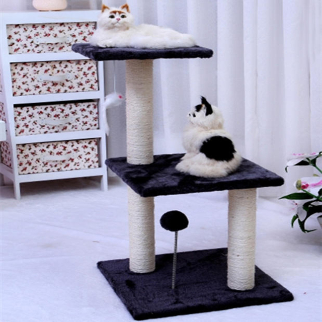 Cat House Bed Indoor Climbing Frame Sisal Scratch Tree Stand ...