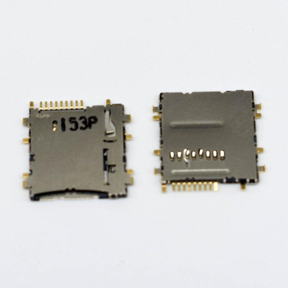 20 pcs/lot Memory card sd TF card reader socket connector for Samsung Galaxy Tab 3 8.0 T310 T311 T211