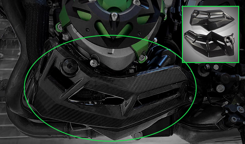 Carbon Fiber Engine Belly Pan Bottom Lower Panel Protection Cover Protector for 2017 2018 Kawasaki Z900 Z 900 Engine Ornamental in Covers Ornamental Mouldings from Automobiles Motorcycles