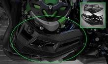 цены Carbon Fiber Engine Belly Pan Bottom Lower Panel Protection Cover Protector for 2017 2018 Kawasaki Z900 Z 900 Engine Ornamental