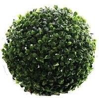 CAMMITEVER Bonsai Topiary 12 cm Diámetro Centro Comercial Tienda Suministros bola de Heno Bola de madera de Boj de Plástico Artificial Decoración de Interior Al Aire Libre