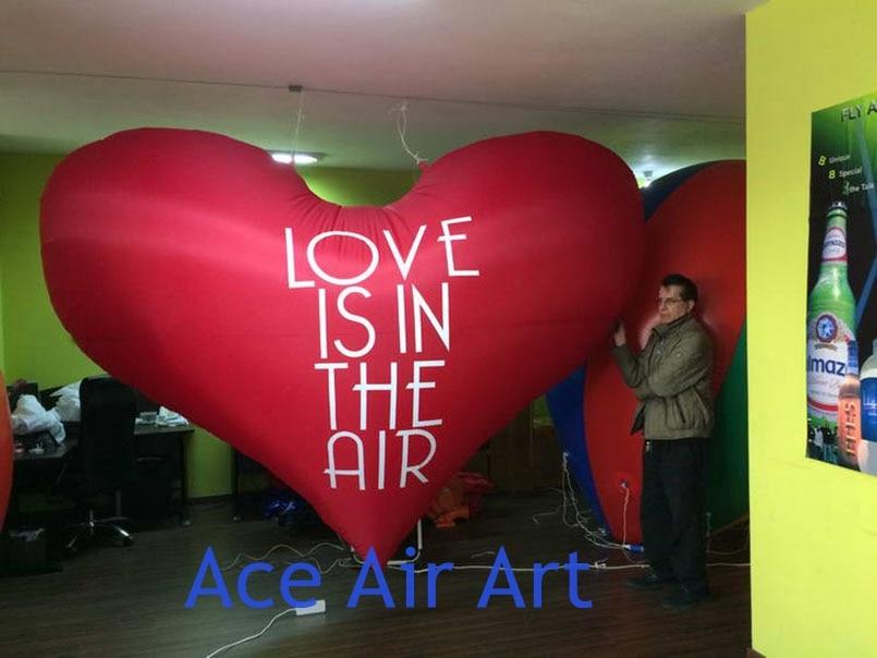 Ballon gonflable géant coeur rouge pour les décorations de la saint-valentin - 2