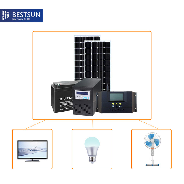Bestsun New Design High Quality 300w 20kw Solar Panel System Solar Energy  System Price Standard Configuration
