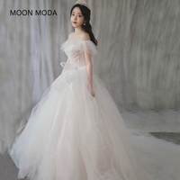 long half sleeve muslim lace wedding dress high quality 2019 bride simple bridal gown real photo weddingdress vestido de noiva