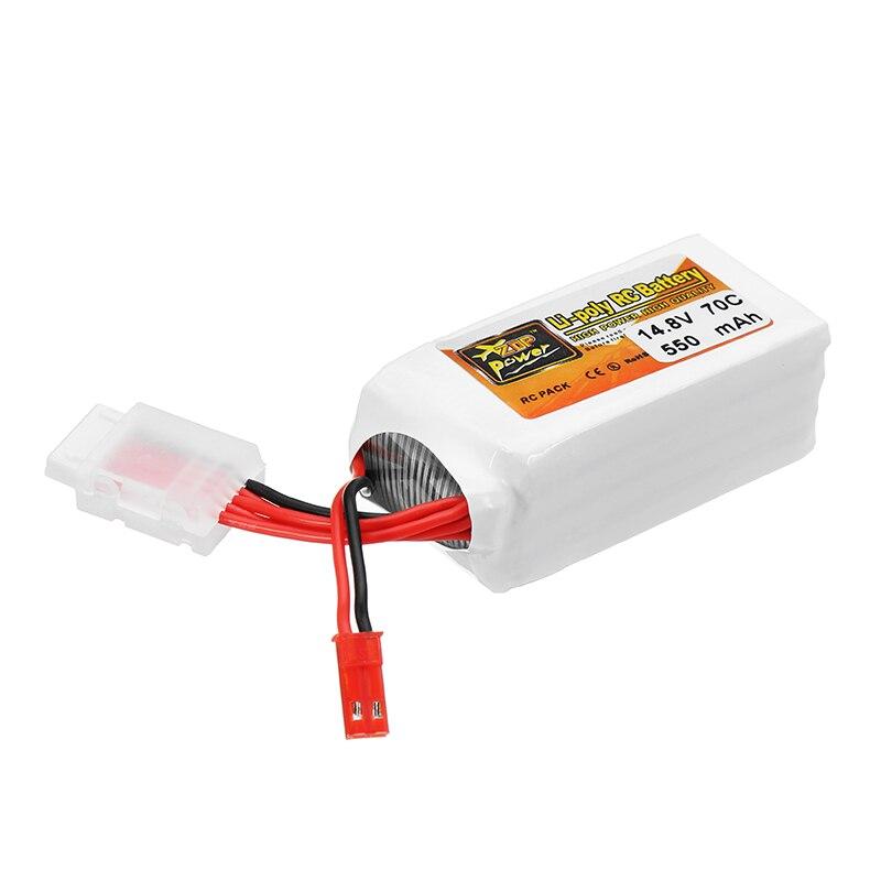 ZOP Power 14.8V 550mAh 70C 4S Lipo Battery JST Plug for RC FPV Racing Drone tiger power 11 1v 550mah 60c 3s lipo battery jst plug for rc fpv racing camera drone spare parts accessories