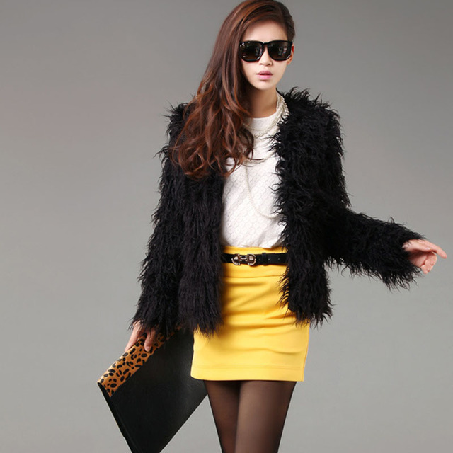 Aliexpress.com : Buy Women's Faux Fur Coats Winter Coat 2016 New ...