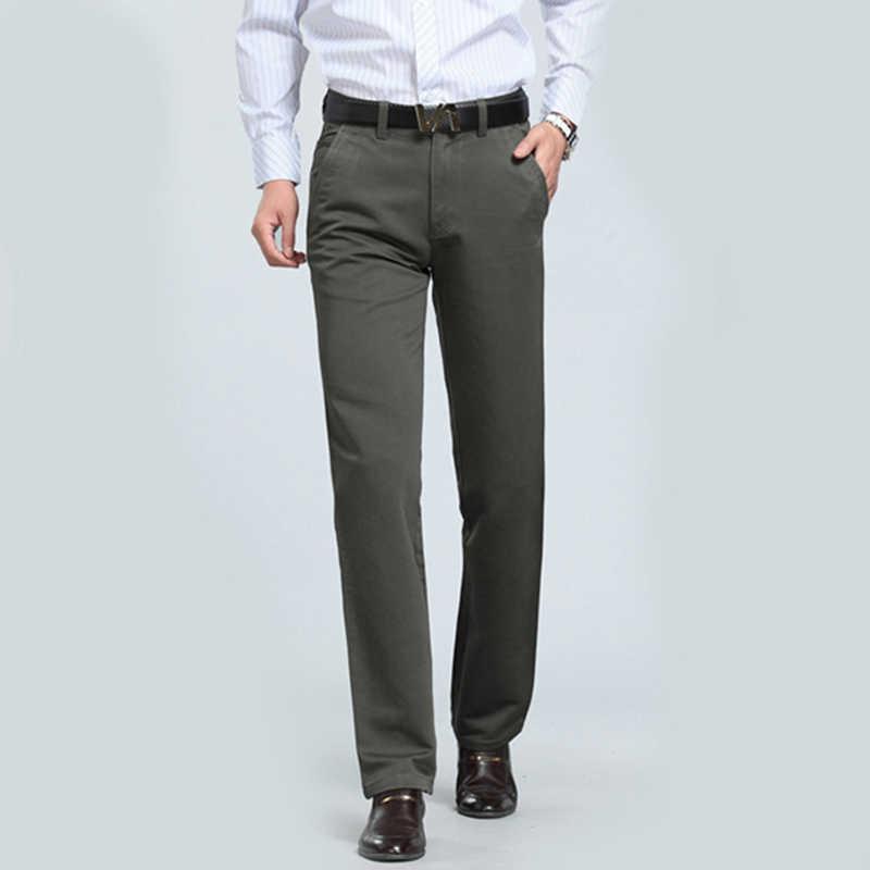 c7d79eee56b ... Middle-aged Man Work Wear Office Suit Pants Men Wedding Party Business  Formal Trousers Pantalones