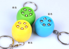 The new spherical circular led keychain flashlight Pumpkin key ring creative gift bags pendant wholesale BS – 052