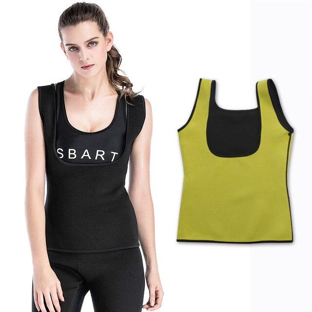 e617eaac5b8 Neoprene Waist Trainer Vest for Women Corset Weight Loss Body Shaper  Cincher Sauna Sweat Tank Top Workout Girdle