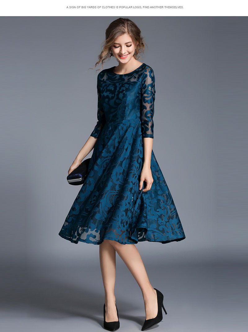 Borisovich New 18 Spring Fashion England Style Luxury Elegant Slim Ladies Party Dress Women Casual Lace Dresses Vestidos M107 13