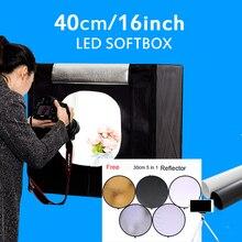 """40*40*40 CM 16 """"Photo Studio Lightbox Photo Lumière Tente Softbox Photographie Mini Boîte à Lumière Kit Pour Jouets Bijoux Avec Cadeau Gratuit"""