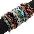 2016 New Natural Stone Bracelet Women Fashion Turquoise/Tiger Eye/Opal/Agate/Rose Quartz Beaded Stretchy Bracelets Wholesale