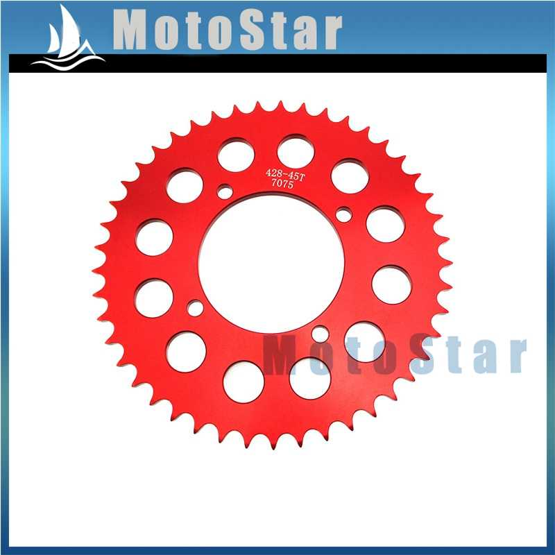 428 45 Teeth 76mm Rear Sprocket For Pit Dirt Bike Stomp Demon Atomic SSR Piranha Lifan YX Braaap Atomic Pitpro Kayo Taotao