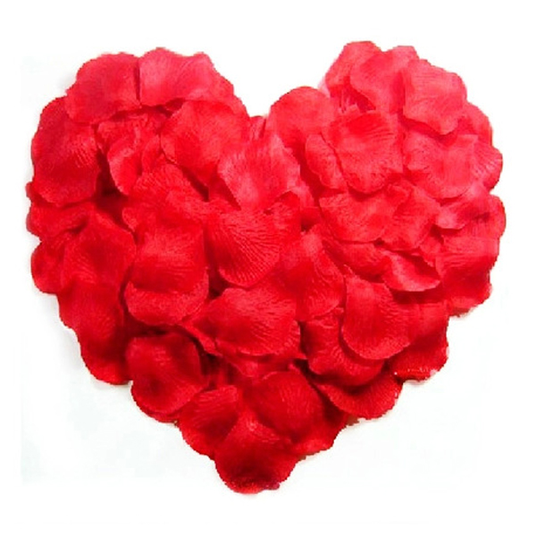 500pcs Lifelike Artificial Silk Red Rose Petals Decorations for Wedding Party(China)