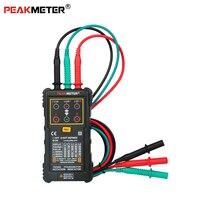 Peakmete PM5900 мотор и фазовый индикатор вращения, трехмоторный фазовый индикатор вращения напряжение, Частота тока тестер