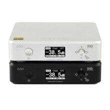 TOPPING D50 de AUDIO de alta fidelidad, decodificador ES9038Q2M * 2 USB DAC DSD512 32Bit/768 kHz negro de plata de calidad superior