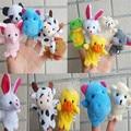 10 pcs crianças favor do presente educacional do bebê educação toys biológica animais fantoche de dedo de pelúcia criança bebê brinquedo das crianças dos miúdos