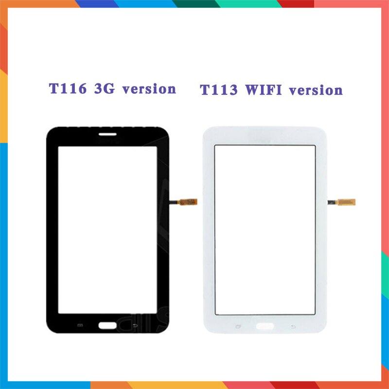 """7,0 """"для samsung Galaxy Lite 3 T113 или Lite 4 T116 Tablet Сенсорный экран планшета Сенсор Передняя Внешний Стекло объектив Панель"""
