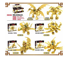 4pcs/lot Ninja Gold Dragon Fleet Body Armor Building Blocks Bricks anime action figures Toys For Children gifts(China)