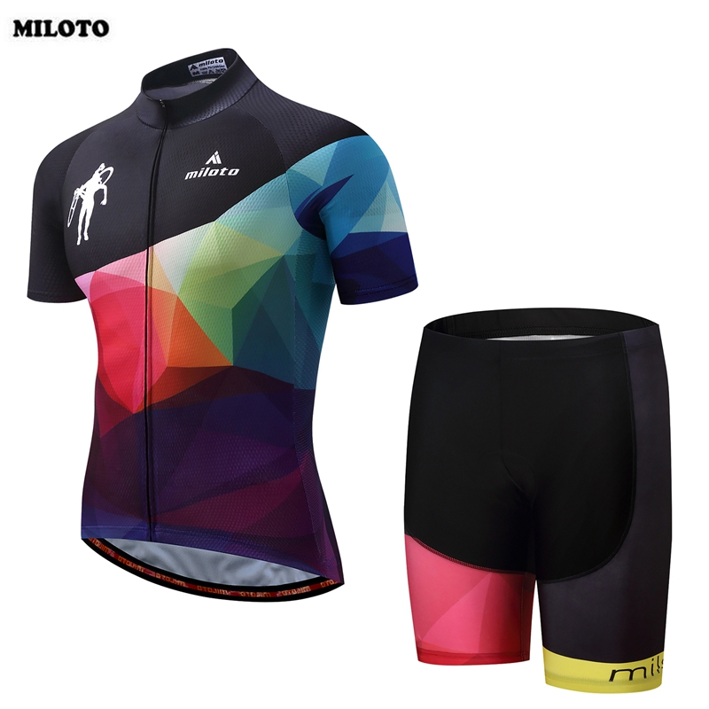 MILOTO 2017 Team Mens Cycling Jersey Set Breathable Bike Bicycle Outdoor Short Sleeve Jersey (BIB) Tight Shorts S-4XL teleyi men cycling jersey bike long sleeve outdoor bike jersey bicycle clothing wear breathable padded bib pants set s 4xl