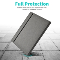 case ipad Bluetooth Keyboard Cover Case For iPad Pro 11 2018 Magnetic Wireless Keyboard Stand Case Pu Leather For iPad Air (2)