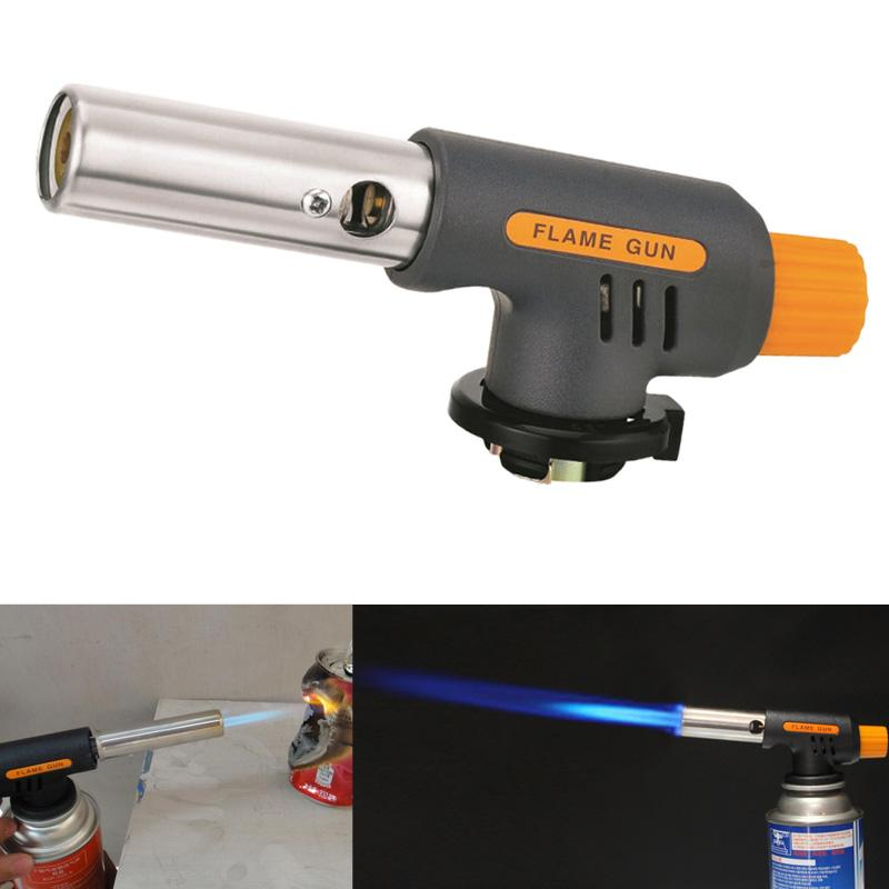 Barbecue Igniter Gas Torch Butane Burner Outdoor BBQ Party High Temperature Flame Gun Auto Ignition Camping Welding Flamethrowe