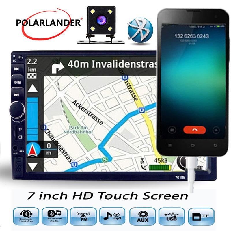 7 pouces volant commande Radio cassette lecteur Autoradio voiture MP5 lecteur Autoradio 2 din voiture MP3 7018BS court miroir lien