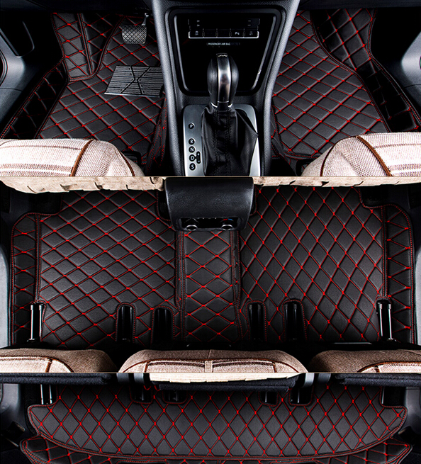 Good quality! Custom special floor mats for Peugeot 5008 7 seats 2018 waterproof car carpets for Peugeot 5008 2017,Free shipping