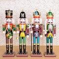 Разноцветные деревянные куклы-щелкунчики для украшения дома и магазина, 100% ручная работа