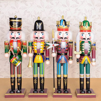 Wood Craft Home Decoration Wooden Adornment Colorful Nutcracker Doll Toys