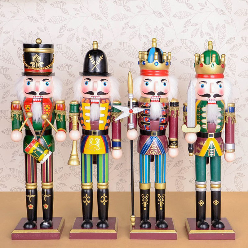 100 handmade Wooden colorful Nutcracker doll font b toys b font for shop and home decoration