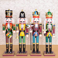 100% handmade Wooden colorful Nutcracker doll toys for shop and home decoration