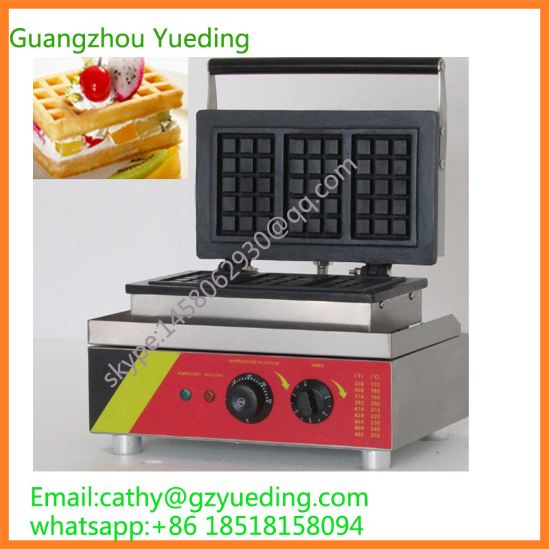 Commercial square waffle maker shapes/3 rectangle waffle making equipment directly factory price commercial electric double head egg waffle maker for round waffle and rectangle waffle