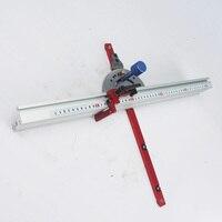 Precision Miter Gauge System Woodworking Aluminum With Adjustable Flip Stop