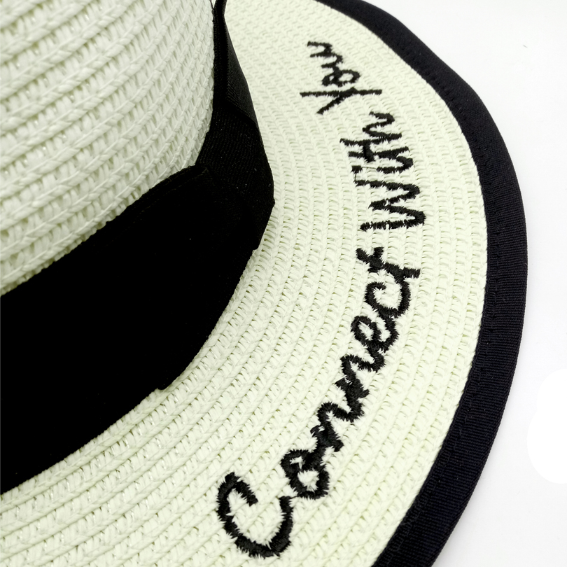 0939d83c825 ... style  panama hat beach hat straw hat  color  black white  white and  black  season  summer  Note  can not water washing