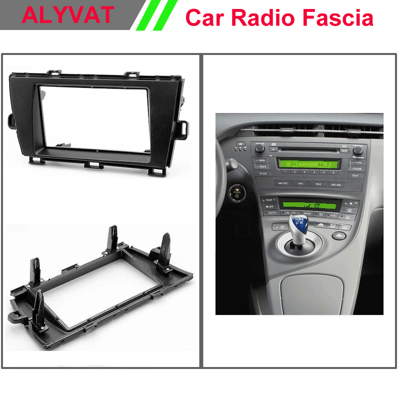 Top qualité autoradio installation kit de montage au tableau de bord installation stéréo pour TOYOTA Prius (ZVW30/35) 2009 + (roue gauche) 2-DIN