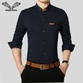 Los hombres camisa de color sólido 2017 vestido de negocios masculino casual brand clothing 5xl de manga larga moda delgado camisa masculina sociales n1191