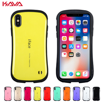 Korea tide brand iFace Shockproof phone case For iphone X XS MAX XR TPU silicone Cover Cases for iphone X 8 7 6S 6 Plus coque marvel glass iphone case