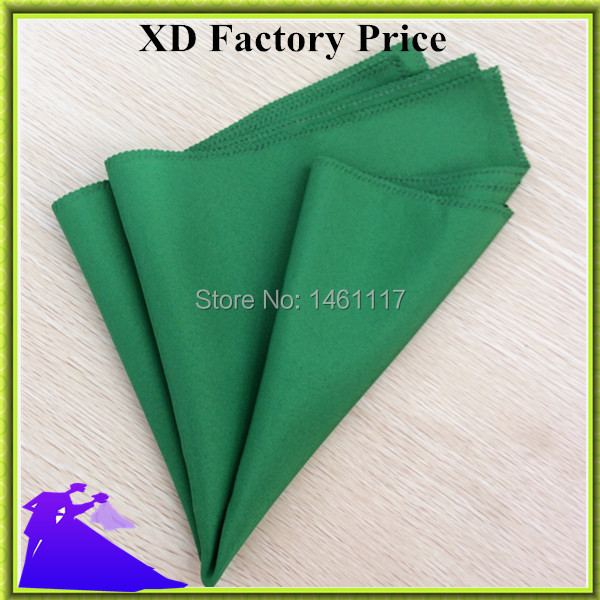 100pcs/lot free shipping handmade solid color polyester table napkin for sale