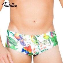 Бренд Taddlee, новые мужские сексуальные плавки, купальные костюмы, бикини, летние пляжные шорты для серфинга на доске, цветные шорты с 3D принтом, купальные костюмы