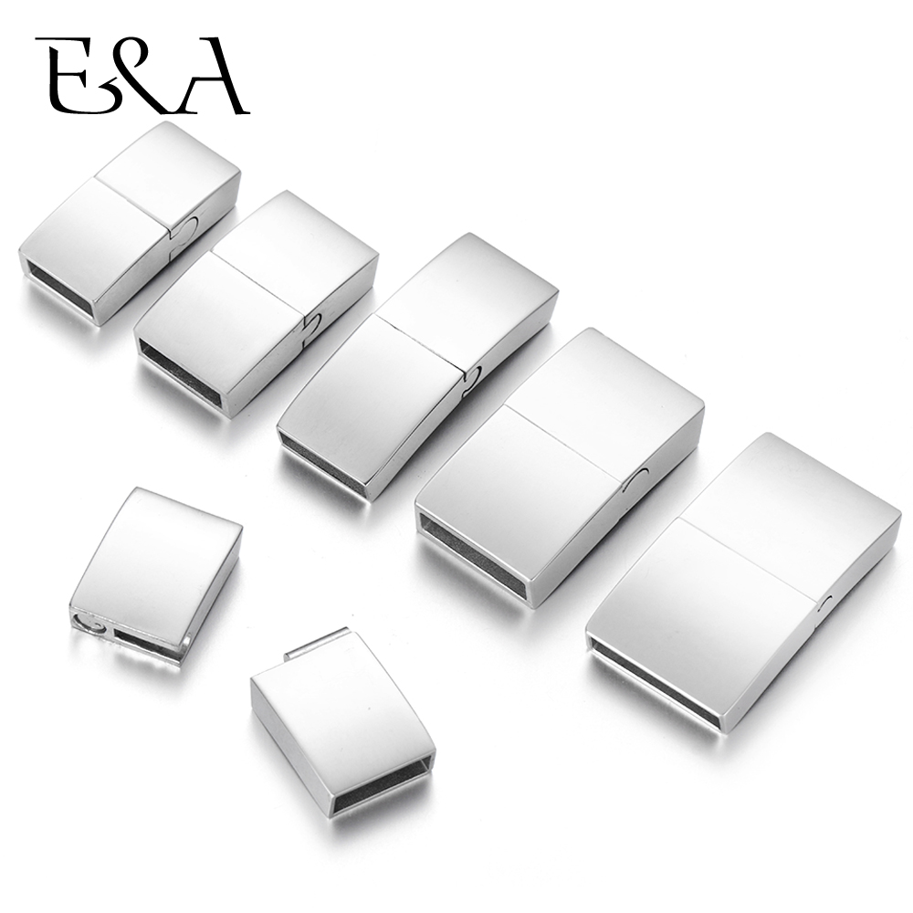 Stainless Steel Magnetic Clasp Rectangle Hole 8*3mm 10*3mm 12*3mm 15*3mm Bracelet Magnet Clasps DIY Jewelry Making Parts Supply