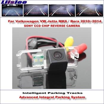 Liislee Intelligent Parking Tracks Rear Camera For Volkswagen Jetta MK6 / Bora 2010~2014 Reverse / NTSC RCA AUX HD SONY CCD
