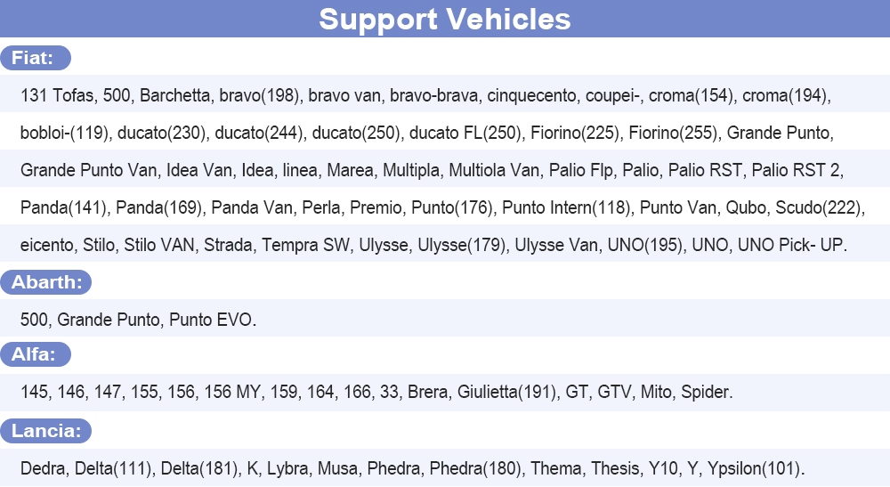 Support Vehicles
