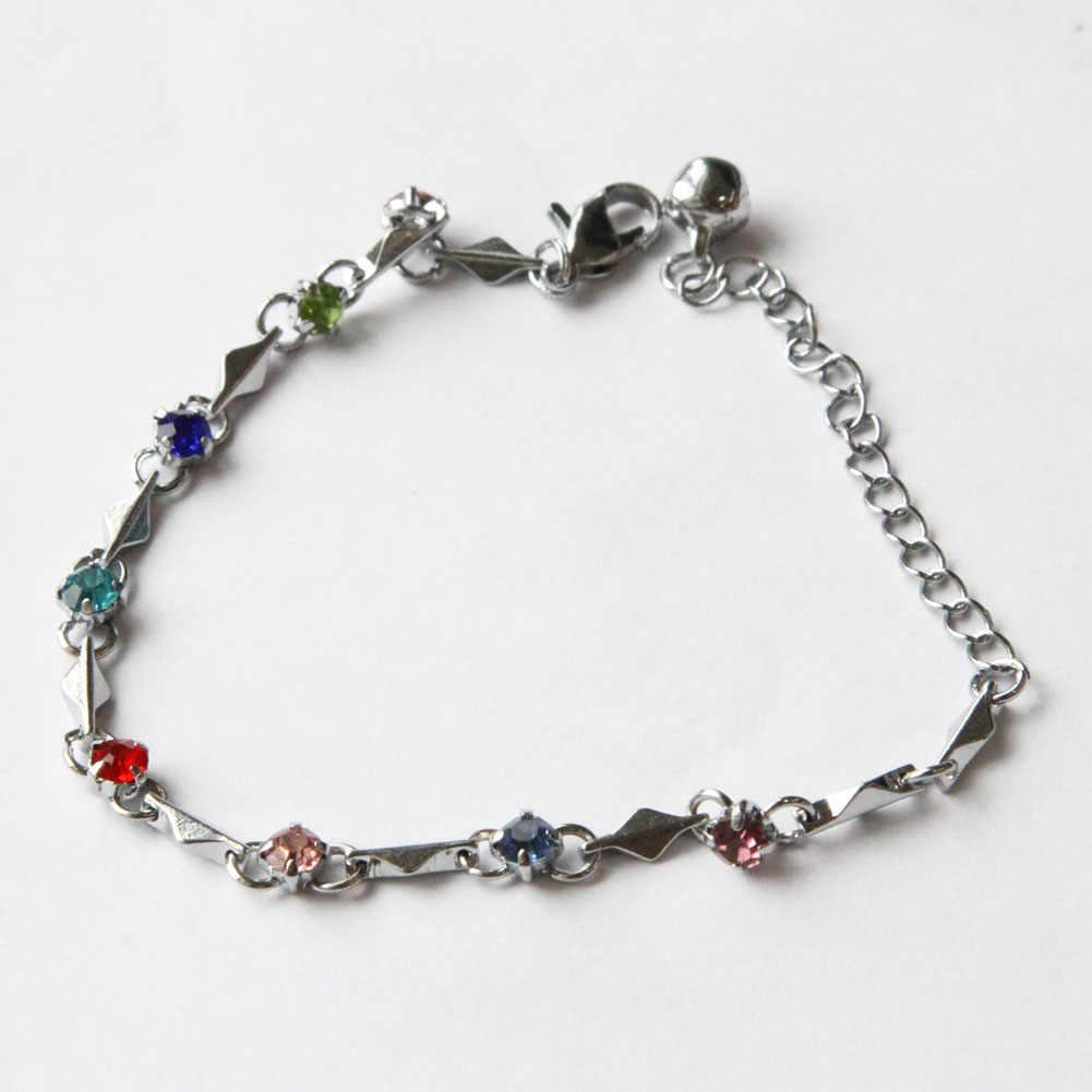 9 Màu Sắc! Chất Lượng hàng đầu Tím Cổ Tay Charm Bracelet Cubic Zirconia Sức Vòng Đeo Tay Cho Phụ Nữ Gift 9 Colors