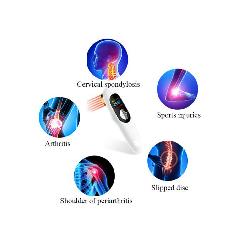 Pain Relief Wound Healing Laser Therapeutic Device LLLT Cold Laser Medical Therapeutic Machine Laser Therapy in Massage Relaxation from Beauty Health