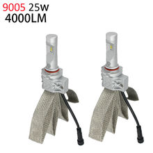 9005 HB3 LED Headlight Bulbs 50w 8000Lm Fanless Auto Headlamp Conversion Kit for Honda Toyota Suzuki Mazda Subaru Acura Lexus