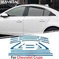 Для Chevrolet Cruze 2010 2011 2012 2013 2014 Хром Крышки Хром Стайлинг Полосы Автомобиль Полный Отделка Окна Отделка Аксессуары